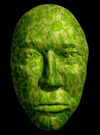 Green Wallpaper Mask