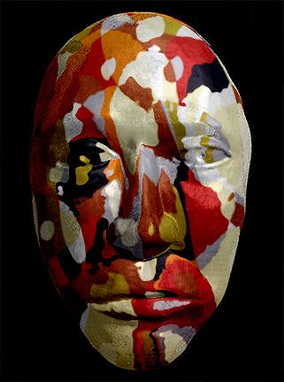 Muticolored Mask