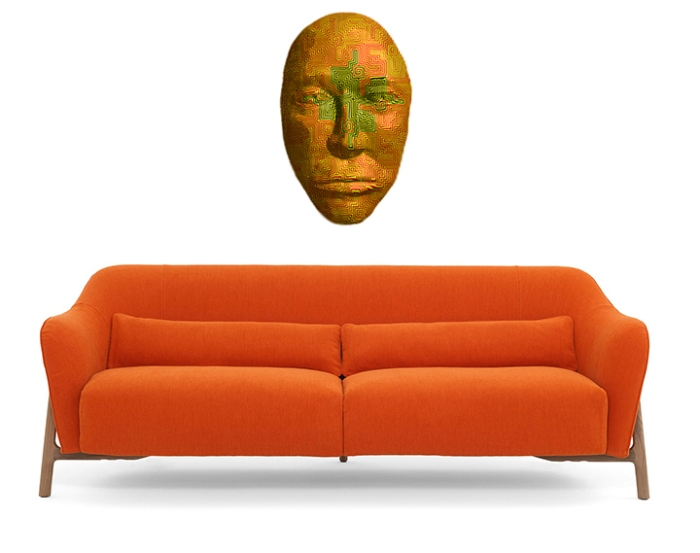 Orange Couch Mask