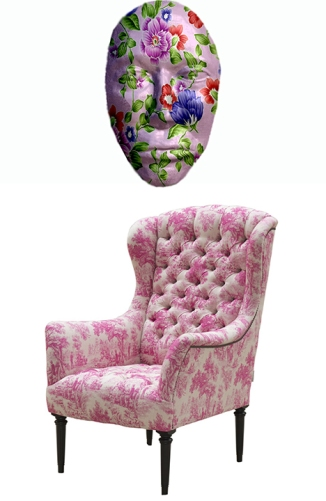 pink chair mask