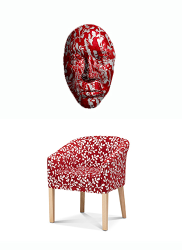 Red Chair with Mask